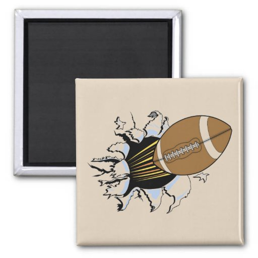 Football Burst T-shirts and Gifts Fridge Magnets