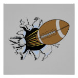 Football Burst T-shirts and Gifts Poster