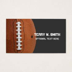 Football Business Card at Zazzle