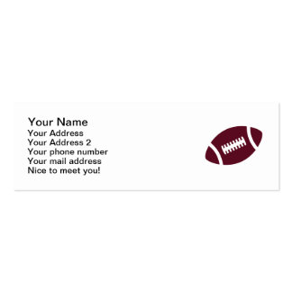 Football Double-Sided Mini Business Cards (Pack Of 20)