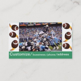 football bussiness card