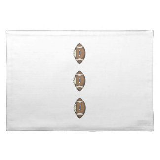 FOOTBALL BUTTONS CLOTH PLACEMAT