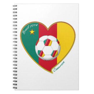 """Football """"CAMEROON"""" Soccer Team Fútbol de Camerún Libro De Apuntes Con Espiral"""