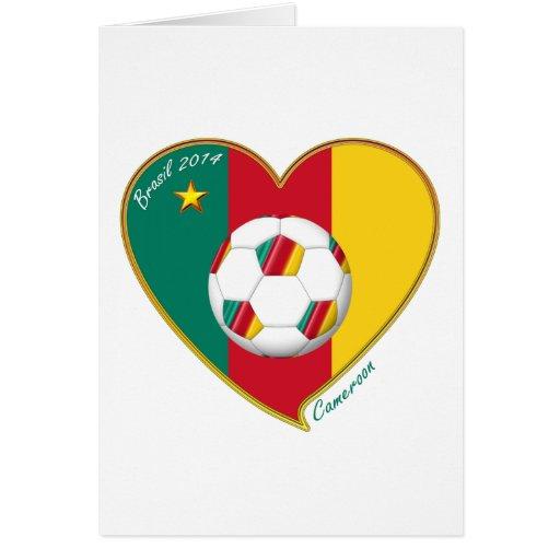 """Football """"CAMEROON"""" Soccer Team Fútbol de Camerún Tarjeta"""
