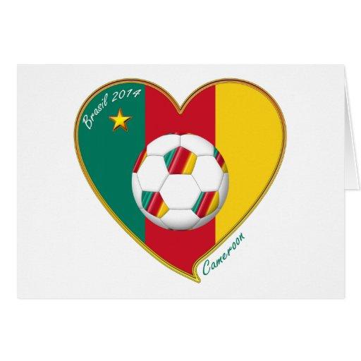 """Football """"CAMEROON"""" Soccer Team Fútbol de Camerún Felicitacion"""