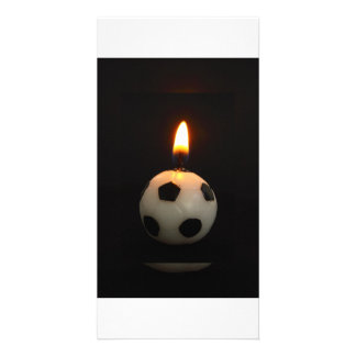 football candle card