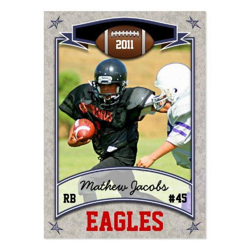 Football Card Large Business Cards Pack Of 100 Zazzle