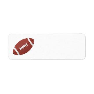 Football cartoon blank return address label