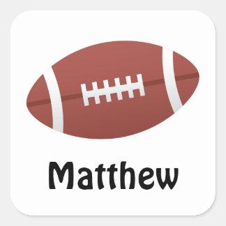 Football cartoon illustration name stickers/tags