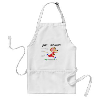 Football Cartoon Mouse Small But Mighty Adult Apron