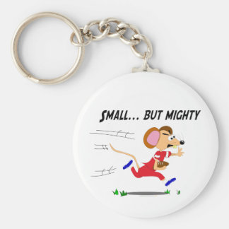Football Cartoon Mouse Small But Mighty Keychain