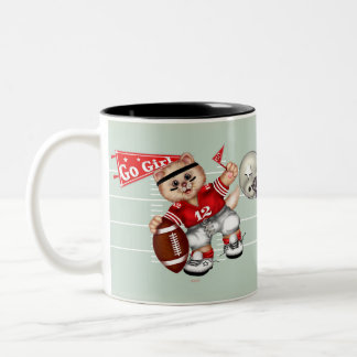 FOOTBALL CAT 3 Two-Tone Mug 11 onz