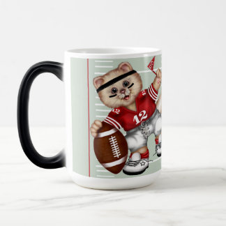 FOOTBALL CAT Morphing Mug 15 onz