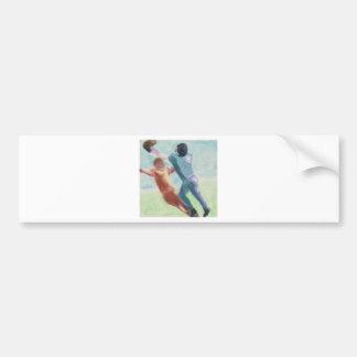 Football Catch Art Bumper Sticker