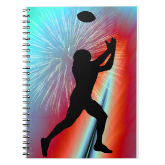 Football Catch in Rocket's Red Glare Notebook