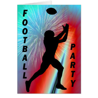 Football Catch in Rocket's Red Glare Party Card