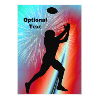 Football Catch Rocket's Red Glare- Customizable Card