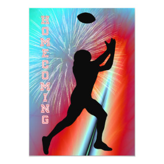 Football Catch Rocket's Red Glare Homecoming Party Card