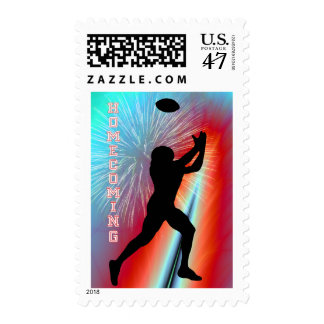 Football Catch Rocket's Red Glare Homecoming Party Postage Stamp