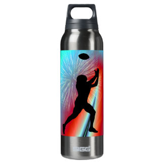 Football Catch  Rocket's Red Glare Insulated Water Bottle