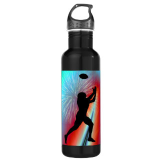 Football Catch  Rocket's Red Glare Stainless Steel Water Bottle