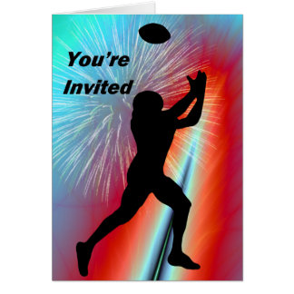 Football Catch  Rocket's Red Glare You're Invited Card