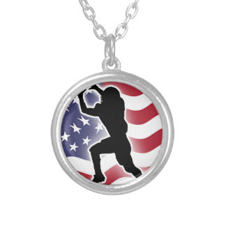 Football - Catch&Score Silver Plated Necklace