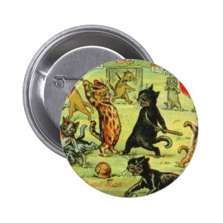 Football Cats by Louis Wain Artwork Buttons