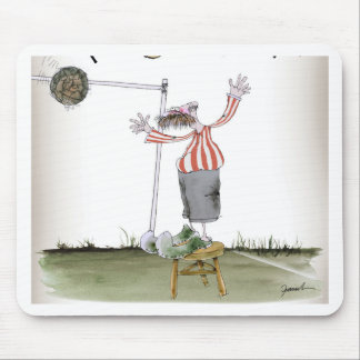 football centre forward red white stripes mouse pad