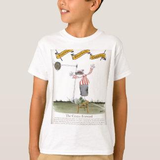 football centre forward red white stripes T-Shirt
