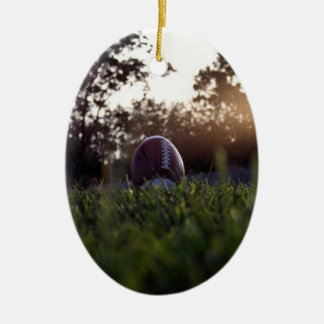 Football Ceramic Ornament