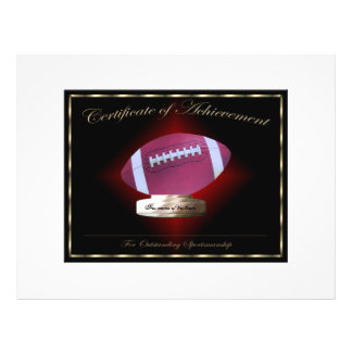 Football Certificate of Achievement Personalized Flyer