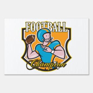 Football Champion Lawn Sign