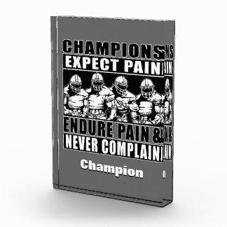 Football Champions Acrylic Award