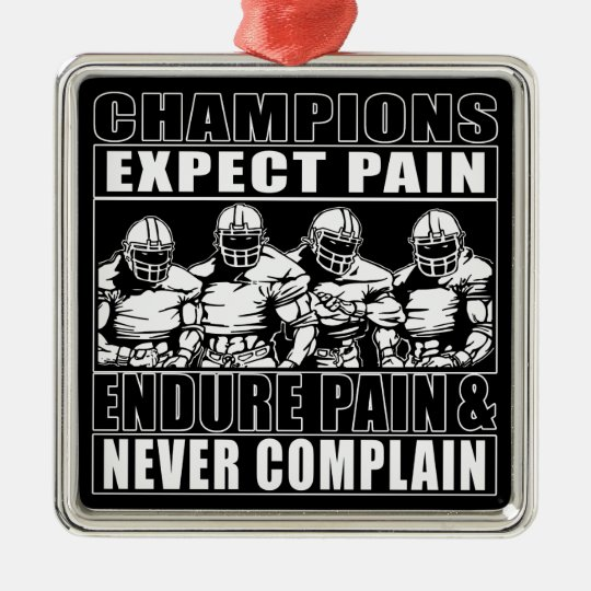 Football Champions Metal Ornament