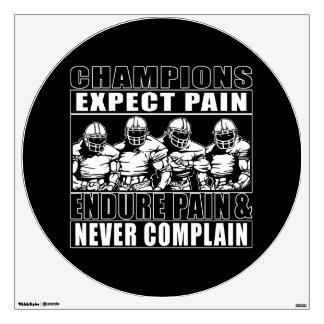Football Champions Room Decal