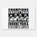 Football Champions Yard Signs