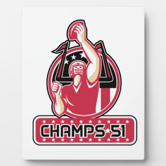 Football Champs 51 Atlanta Retro Plaque