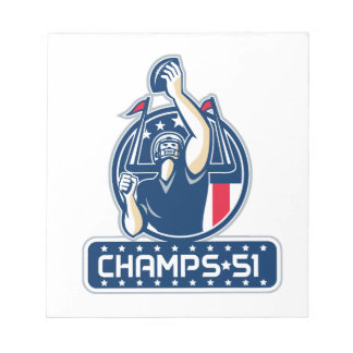 Football Champs 51 New England Retro Notepad