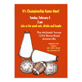 "Football Cheers Invitation 5"" X 7"" Invitation Card"