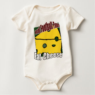 Football Cheesehead Eat Cheese Green and Gold Baby Bodysuit