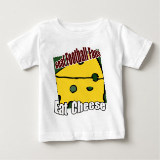 Football Cheesehead Eat Cheese Green and Gold Baby T-Shirt