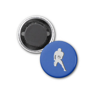 Football Chess TAG Fullback (Bishop) - Blue-R 1 Inch Round Magnet