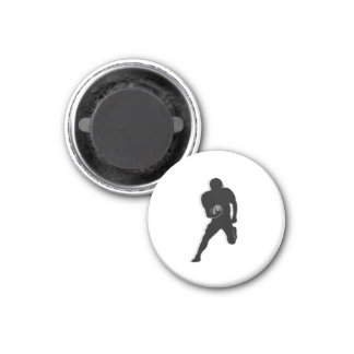 Football Chess TAG Fullback (Bishop) - White-L 1 Inch Round Magnet