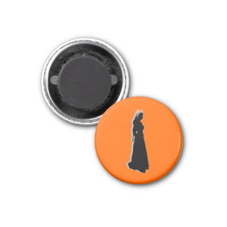 Football Chess TAG Homecoming (Queen) - Orange-L Magnet