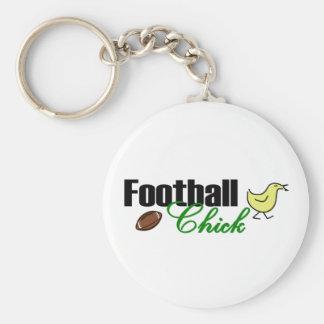 Football Chick Keychain