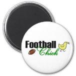 Football Chick Refrigerator Magnet