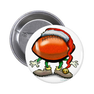Football Christmas 2 Inch Round Button