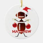 Football Christmas Cartoon Christmas Ornaments