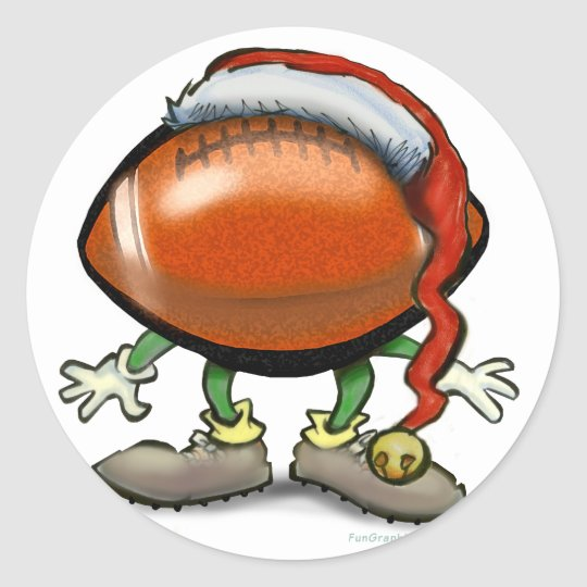 Football Christmas Classic Round Sticker